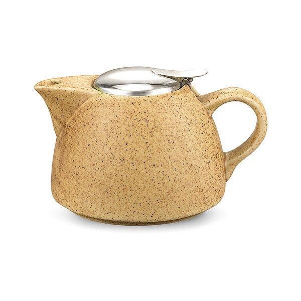 Заварочный керамический чайник 1 л Песочный с ситечком TP-9299.1000
