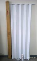 Дверь гармошка ( Ширма)  - белая  820х2030мм., фото 1