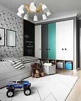 Детская комната для подростка с шкафами и кроватью  D-016