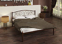 Кровать металлическая Анталия 140*200 шоколад