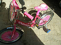 Велосипед Princess (16)  2-х колесный со  звонком ,зеркалом,ручным тормозом, фото 1