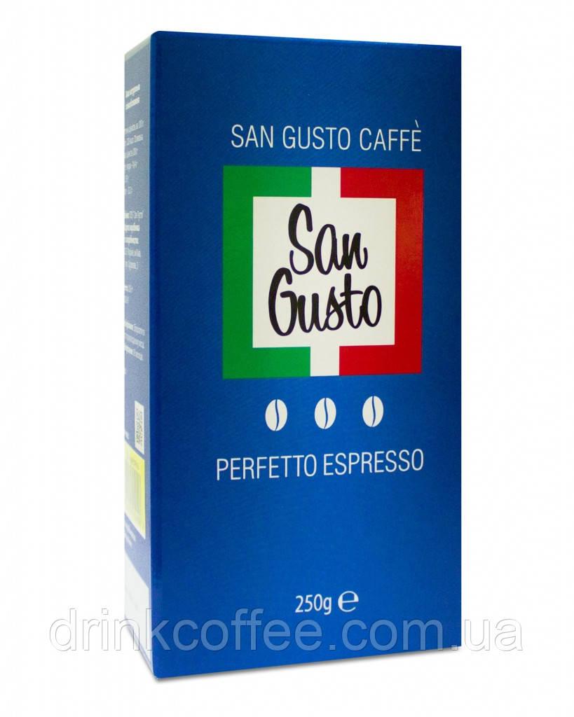 Кофе San Gusto, 50% арабика, 50% робуста, 250 грамм