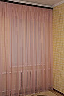 Тюль лен. Цвет розовый. Турция