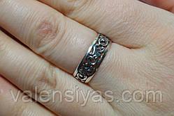 Серебряное кольцо с узором, фото 3