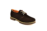 Туфли для мальчика подростковые шнуровка черные натуральная замша от производителя KARMEN 332021, фото 2