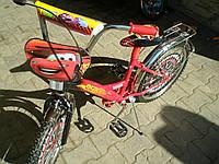 Велосипед тачки (14)  2-х колесный со  звонком ,зеркалом,ручным тормозом