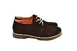 Туфли для мальчика подростковые шнуровка черные натуральная замша от производителя KARMEN 332021, фото 3