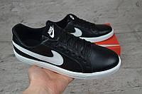 Мужские кроссовки Nike 1/5  ч.т черные с белым