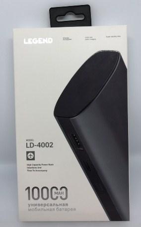 Портативное зарядное устройство Power Bank LEGEND LD4002 10000mAh