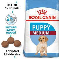 Роял Канин Медиум Юниор Паппи Royal Canin Medium Junior Puppy корм для кормящих собак и щенков 15 кг
