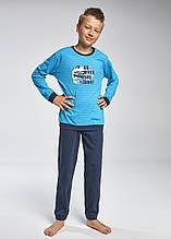 Трикотажная Пижама Для Мальчика Ярко Голубая С Изображением Гоночной Машины GO, CORNETTE, Польша 158/164 см
