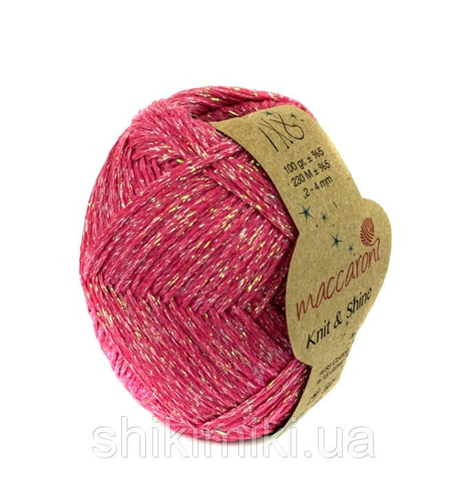 Трикотажный шнур с люрексом Knit & Shine, цвет Коралловый