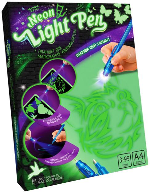 Набор Рисуй Светом Neon Light Pen A4