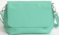 Женская кожаная сумка на плечо цвет мяты, фото 1