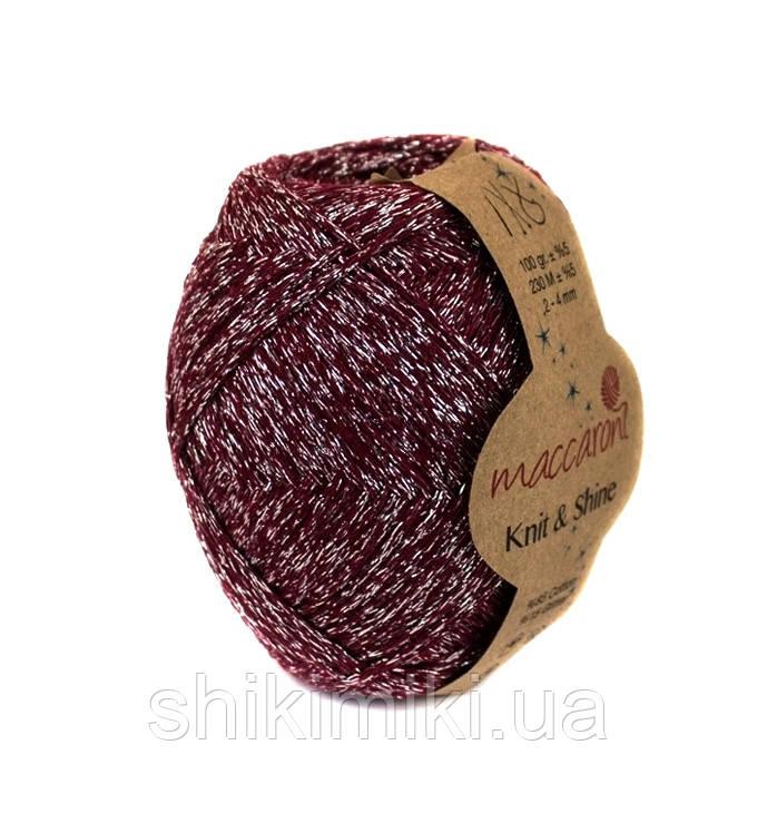 Трикотажный шнур с люрексом Knit & Shine, цвет Бордовый