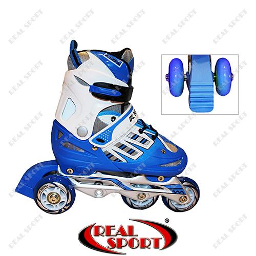 Роликовые коньки детские раздвижные Kepai F1-F1, М (34-37), синие