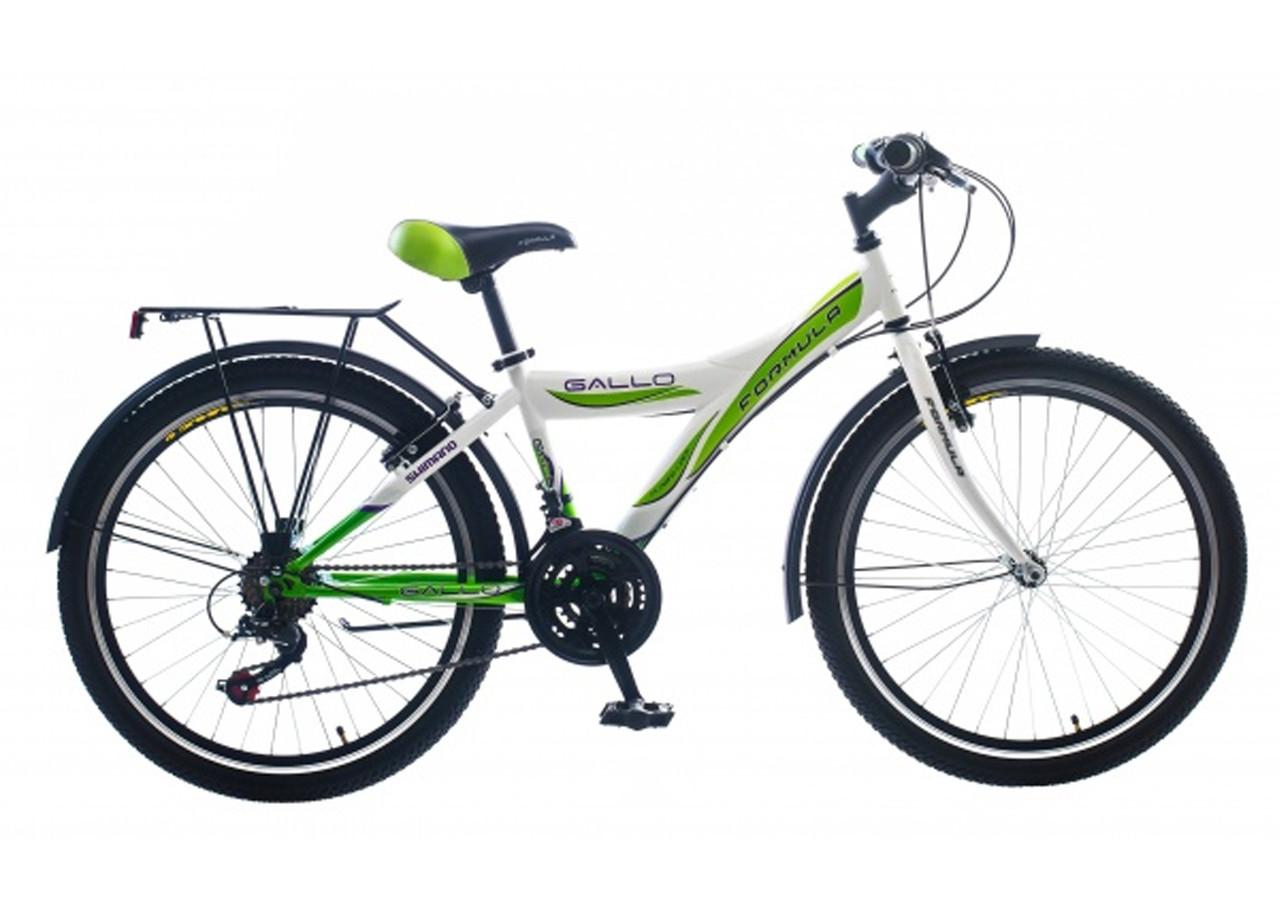 Велосипед для девочки и мальчика спортивный Gallo 24 дюйма с багажником