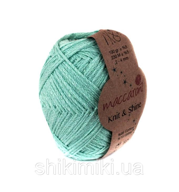 Трикотажный шнур с люрексом Knit & Shine, цвет Ментоловый