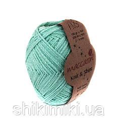 Трикотажний шнур з люрексом Knit & Shine, колір Ментоловий