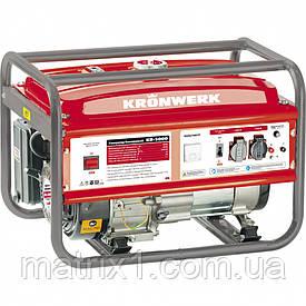 Генератор бензиновий LK 2500, 2,2 кВт, 220В, бак-15 л, ручний старт KRONWERK