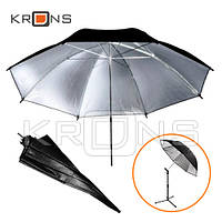 """Студийный фото зонт 101см серебристый, 40"""" silver"""