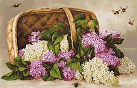 """Набор для вышивания крестиком (цветы) """"Корзина с сиренью"""""""