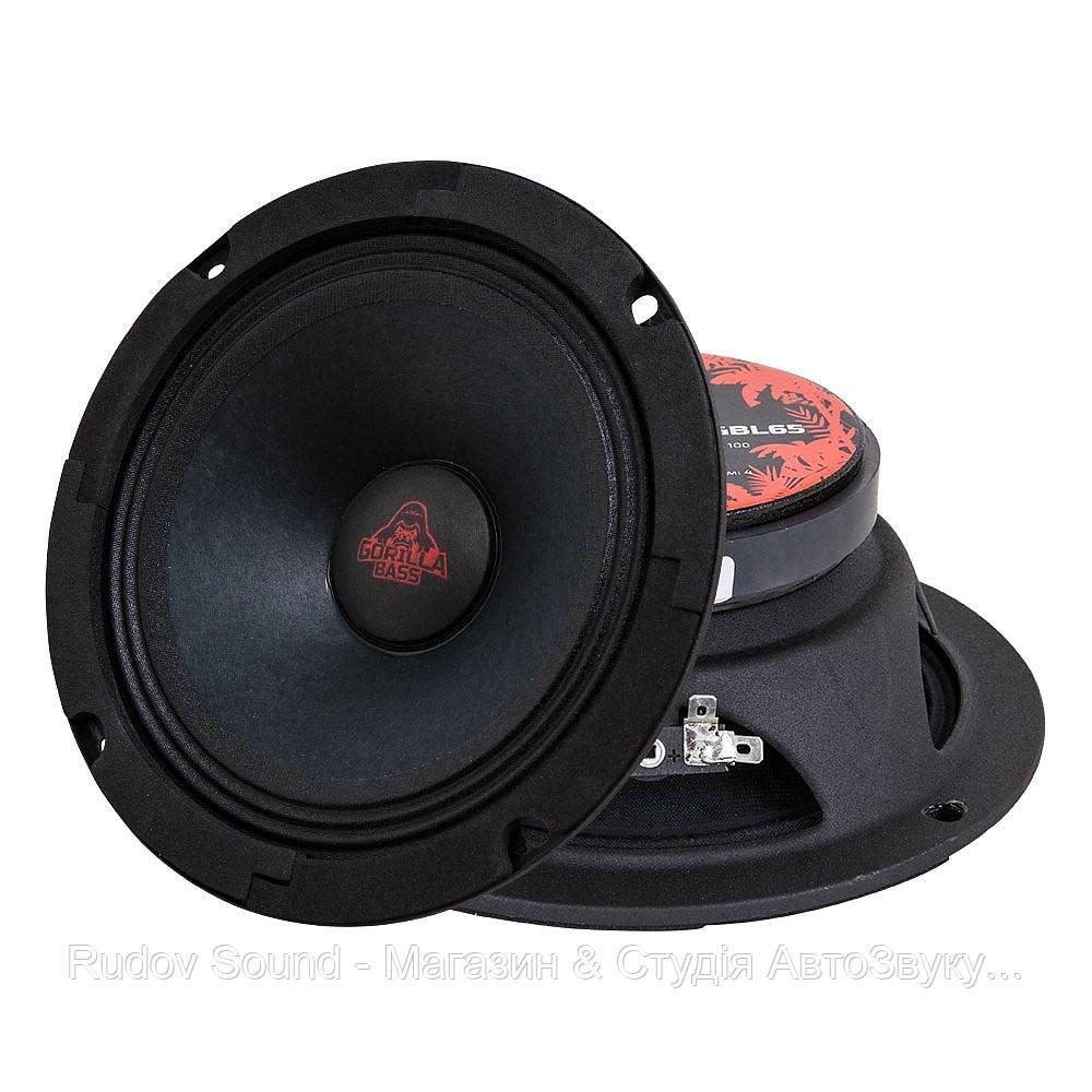 Эстрадная акустика Kicx Gorilla Bass GBL65 (16.5см | 100/200w | 90db | 120-12000hz)