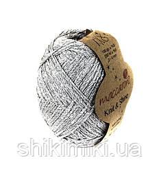 Трикотажный шнур Knit&Shine,цвет Серебро