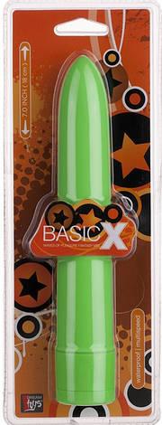 Классический вибратор BasicX Multispeed Vibrator 5inch, салатовый, фото 2
