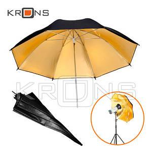 Фото зонт 84см золотистый, 33'' студийный
