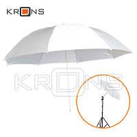 Фото зонт 84см белый 33'' студийный на просвет, white