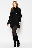 Оригинальное женское осенне-весеннее пальто с поясом, застежкой одну пуговицу, отложными воротником и рукавами
