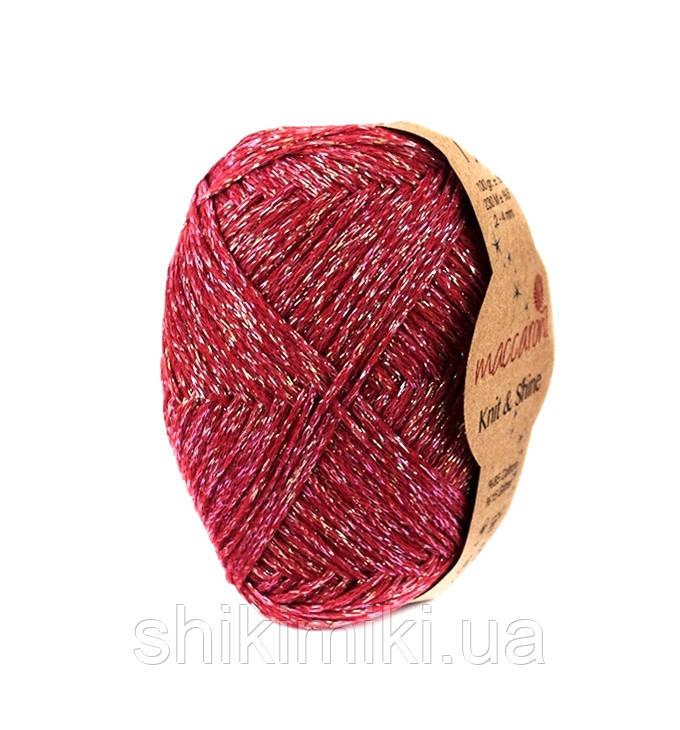 Трикотажный шнур с люрексом Knit & Shine, цвет Красный
