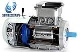 Электродвигатель АИР100L4E 4 Квт 1500 об/мин с электромагнитным тормозом, фото 2
