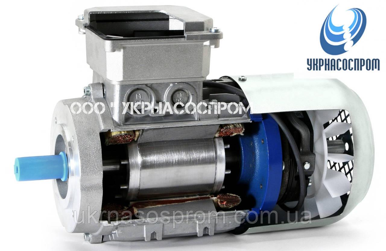 Электродвигатель АИР100L4E 4 Квт 1500 об/мин с электромагнитным тормозом