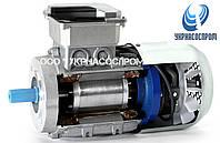 Электродвигатель АИР90L2Е 3 Квт 3000 об/мин с электромагнитным тормозом, фото 1