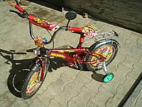 Велосипед Hot Wheels  (16) 2-х колесный со  звонком ,зеркалом,ручным тормозом, фото 1