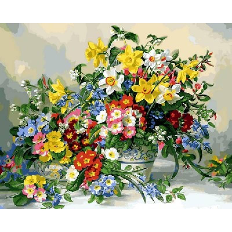 Картина за номерами Весняні квіти, 40x50 див., Mariposa