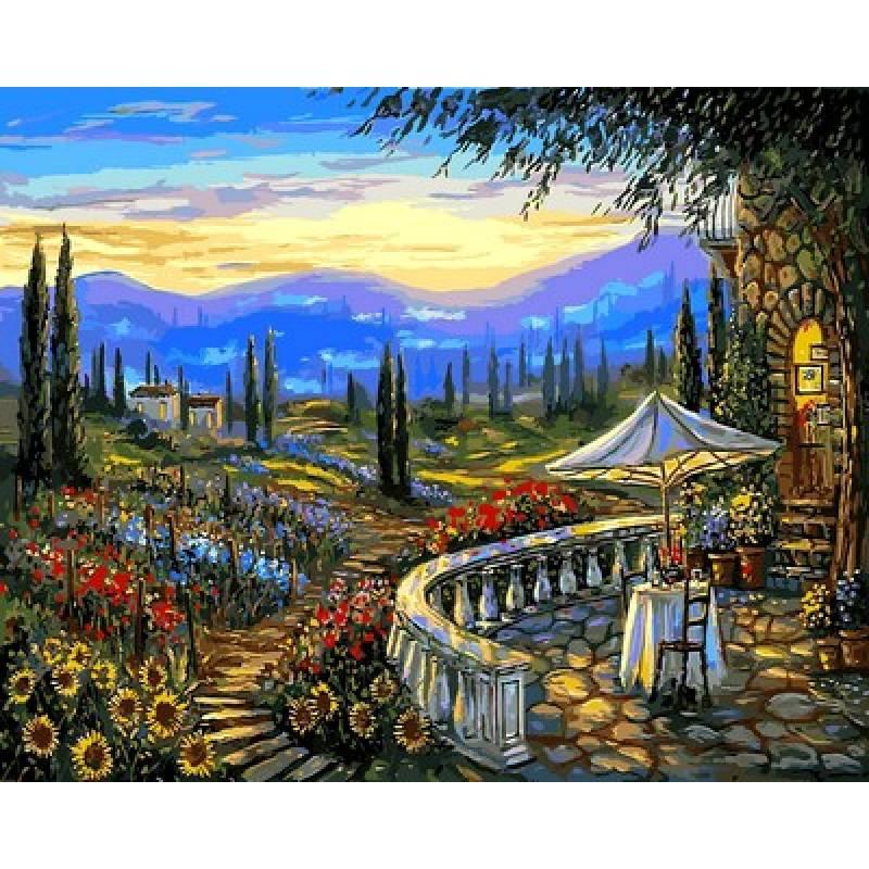 Картина по номерам Цветы Тосканы Венеция, 40x50 см., Mariposa