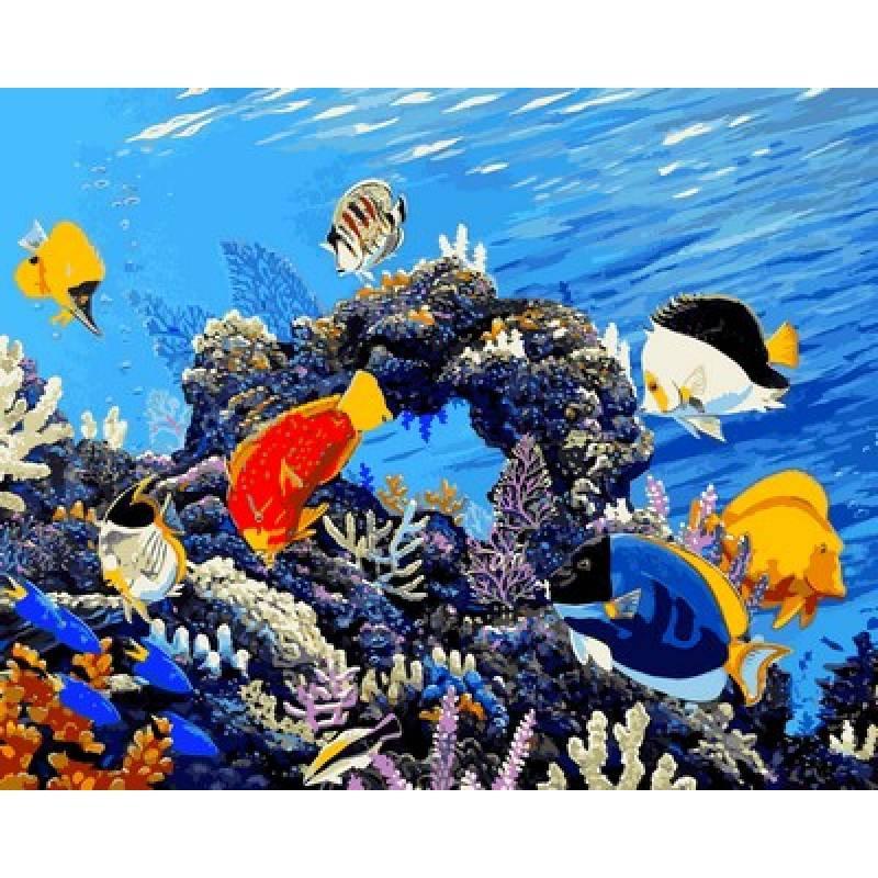 Картина по номерам Береги наши рифы, 40x50 см., Mariposa