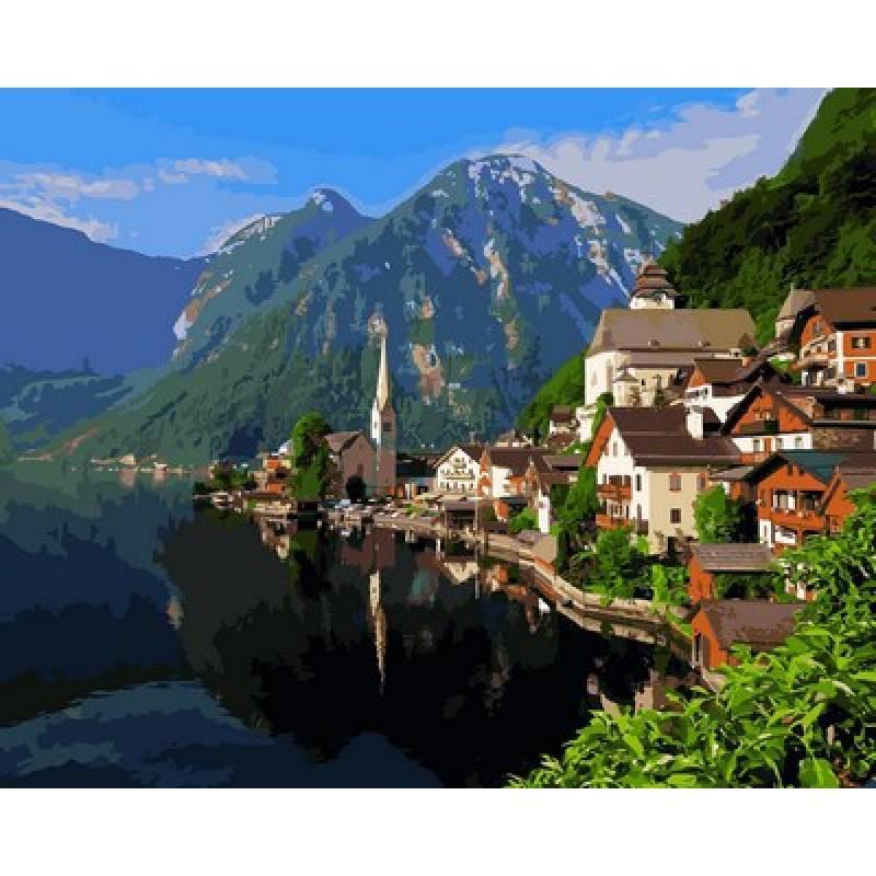 Картина по номерам Озеро Хальштеттер Австрия, 40x50 см., Mariposa