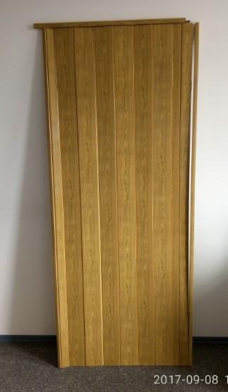 Дверь гармошка глухая 810 х 2030 Дуб золой