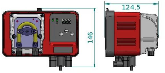 Габаритные размеры станция дозирования Microdos MP2–pH