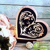 Соляная лампа «Сердце с узором»