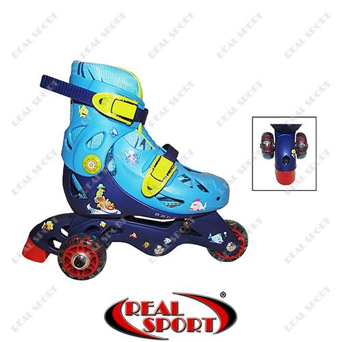 Роликовые коньки детские раздвижные Kepai N221B, S (29-32), синие