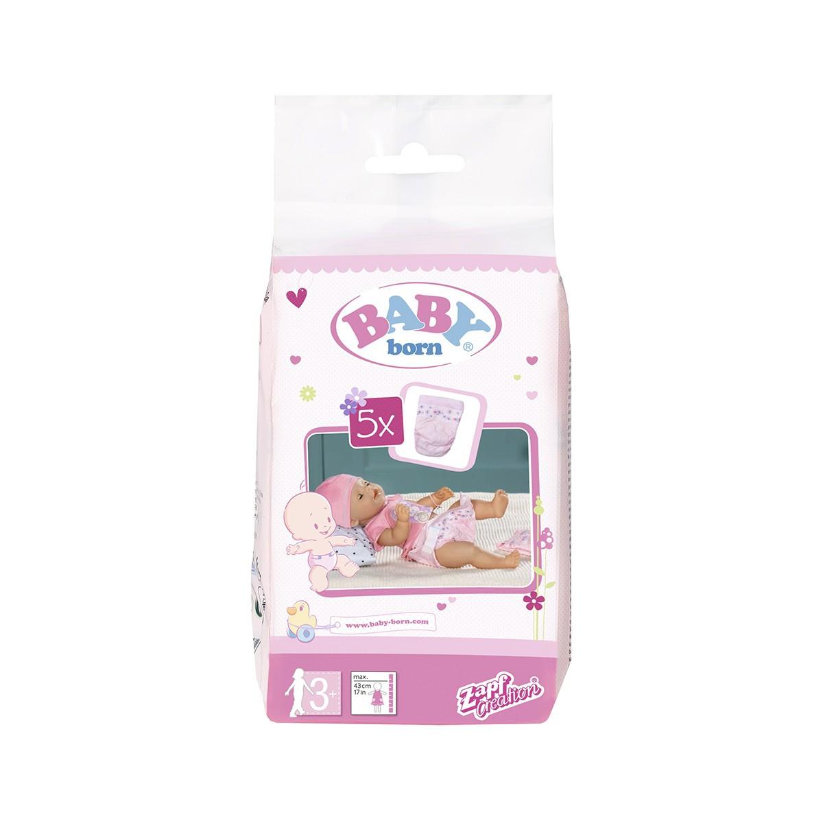 Підгузки для ляльки BABY BORN 5 шт. в наборі