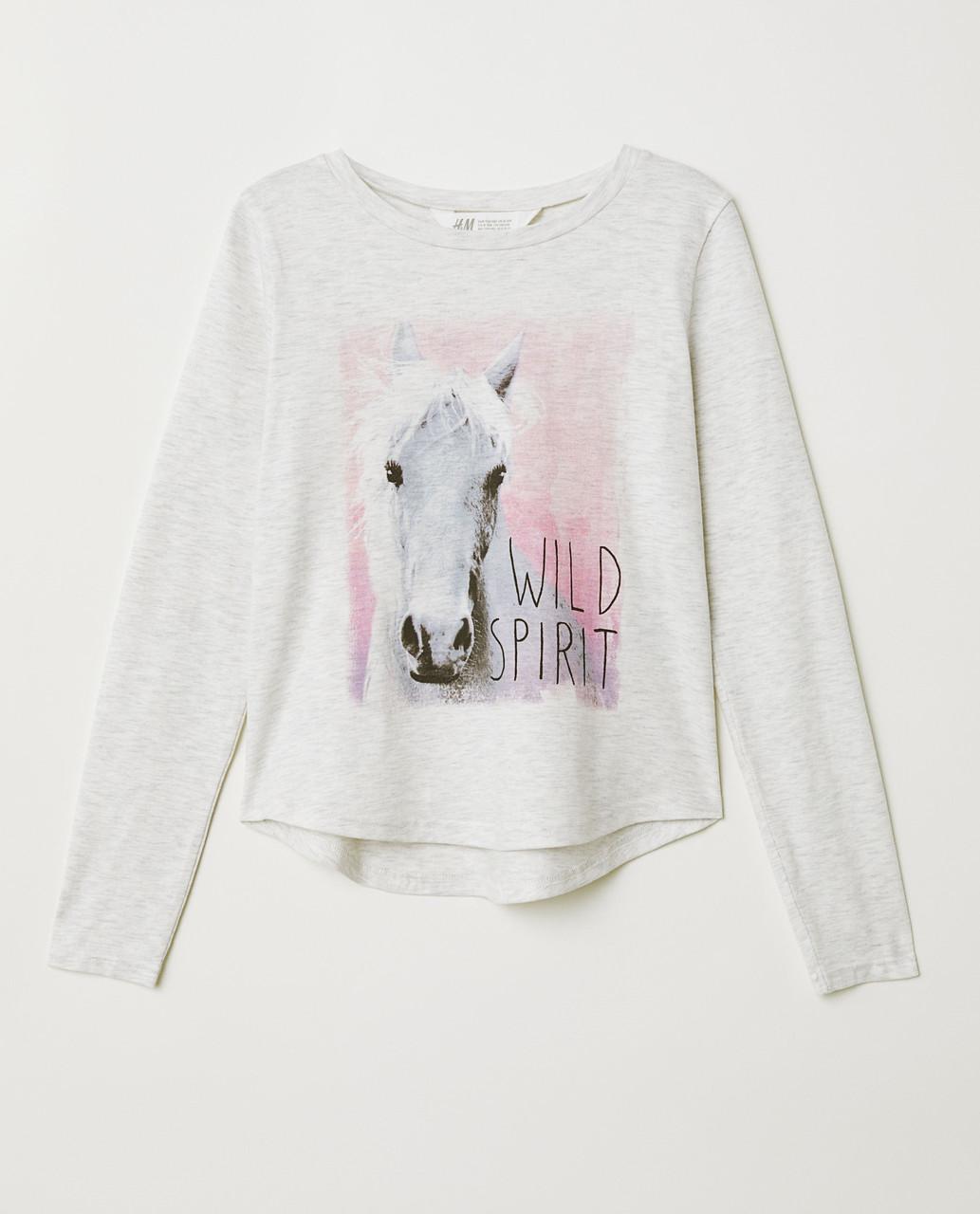 Подростковый реглан с принтом для девочки H&M Швеция Размер 146-152