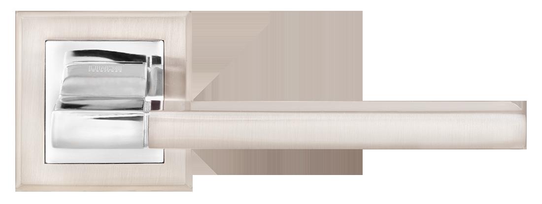 Дверные ручки LINDE A-2008 SN-CP матовый никель/полированный хром