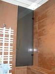 дверцы стеклянные в ванной комнате. Стекло графит 5мм. каленое.