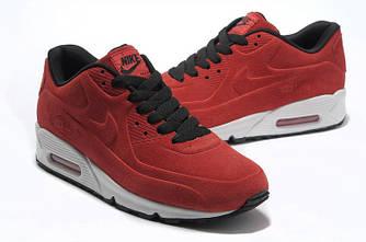 Кроссовки Nike Air Max 90 VT Red Красные Замш